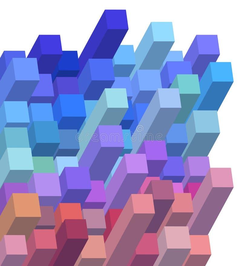fondo abstracto cúbico 3d stock de ilustración