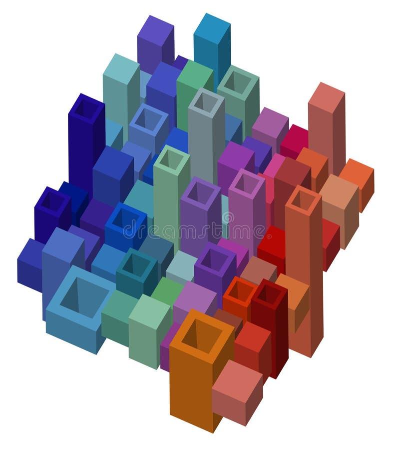 Fondo abstracto cúbico del diseño stock de ilustración