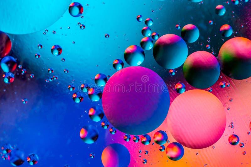 Fondo abstracto c?smico del universo del espacio o de los planetas Sctructure abstracto del ?tomo de la mol?cula Burbujas del agu imagen de archivo