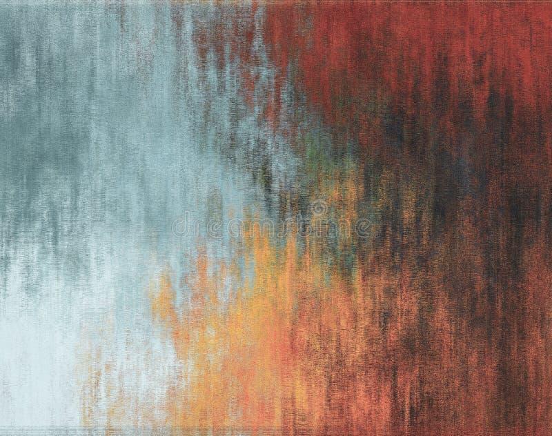Fondo abstracto, color rojo, anaranjado y azul de la pared, yeso foto de archivo libre de regalías
