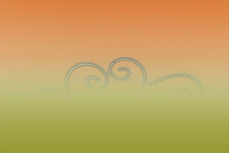 Fondo abstracto colorido abstracción en humo anaranjado imágenes de archivo libres de regalías