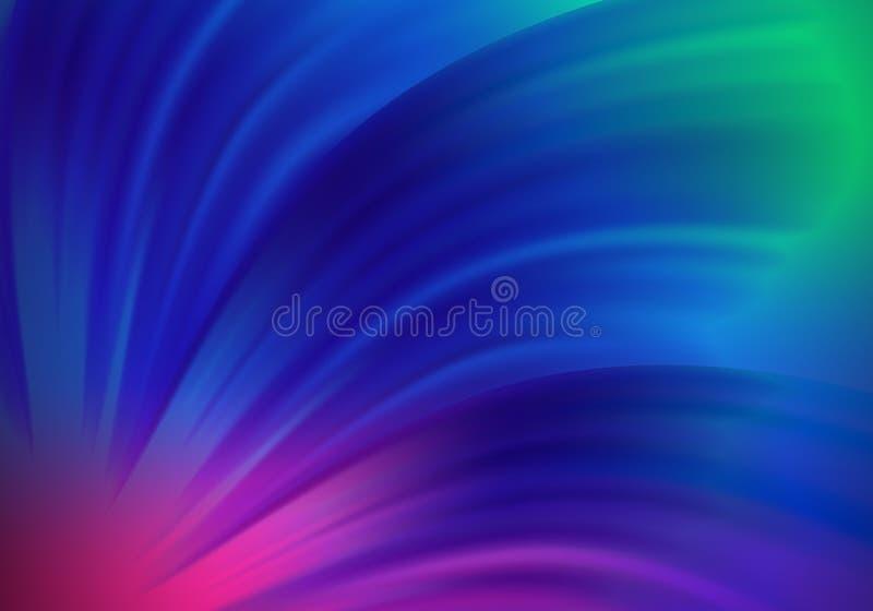 Fondo abstracto colorido con las piezas borrosas Ondas azules y púrpuras de la pendiente Modelo brillante del vector ilustración del vector