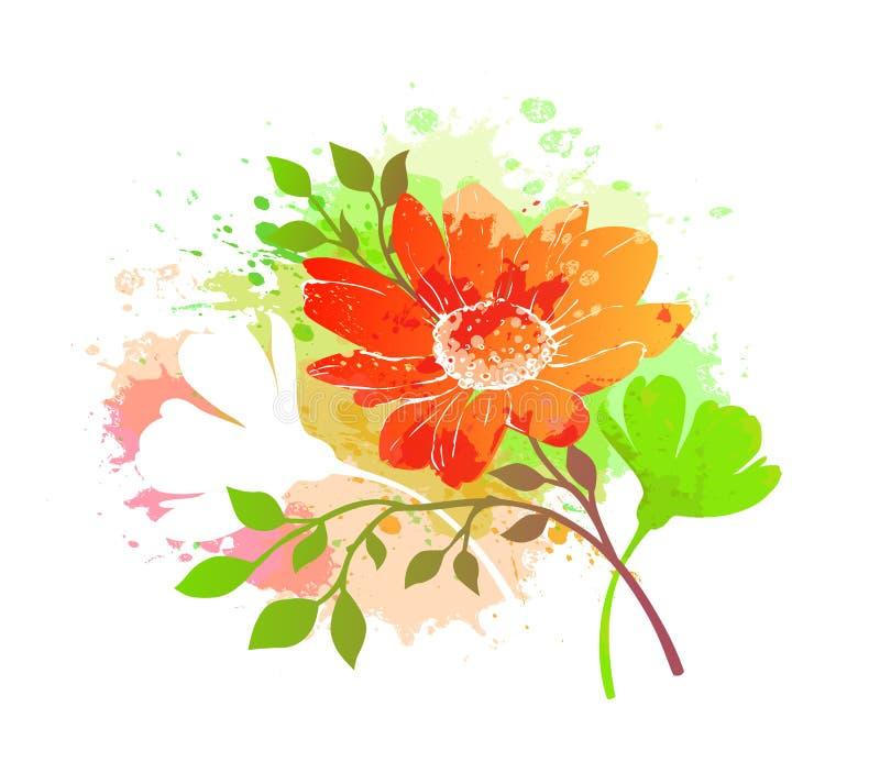 Fondo abstracto colorido de la flor libre illustration