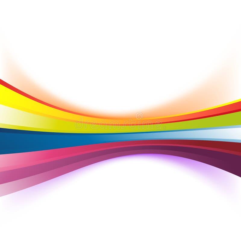 Fondo abstracto colorido de la raya del arco iris libre illustration