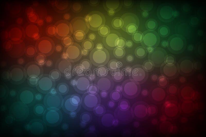 Fondo abstracto colorido del bokeh ilustración del vector