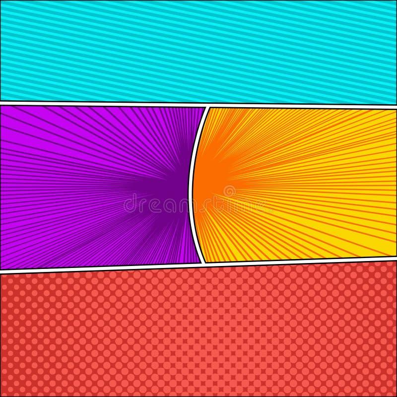 Fondo abstracto colorido del cómic ilustración del vector