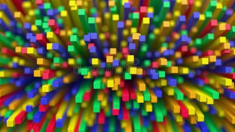 Fondo abstracto colorido del cubo imagen de archivo