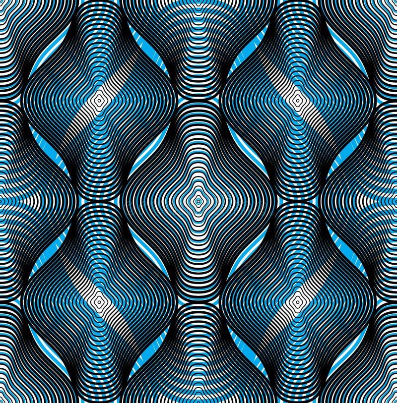 Fondo abstracto colorido del vector adornado con las líneas gráficas S stock de ilustración