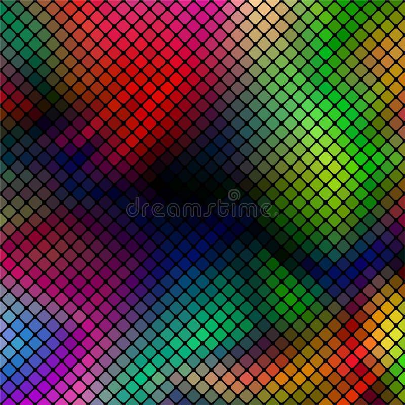 Fondo abstracto colorido del vector del mosaico libre illustration
