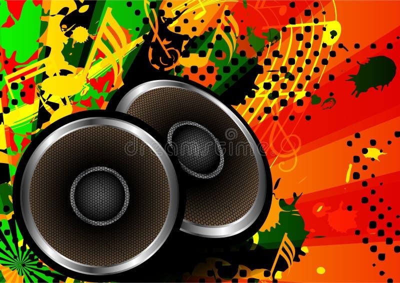 Fondo abstracto colorido del vector del diseño del altavoz de la música stock de ilustración
