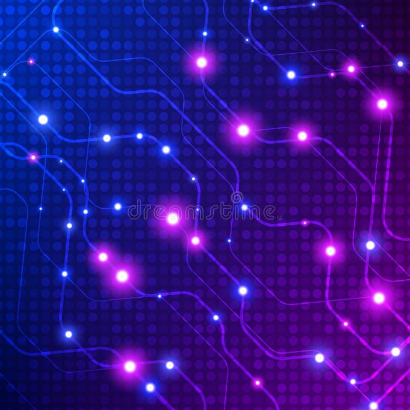 Fondo abstracto colorido Fondo abstracto de la conexión de la tecnología Ilustración del vector ilustración del vector