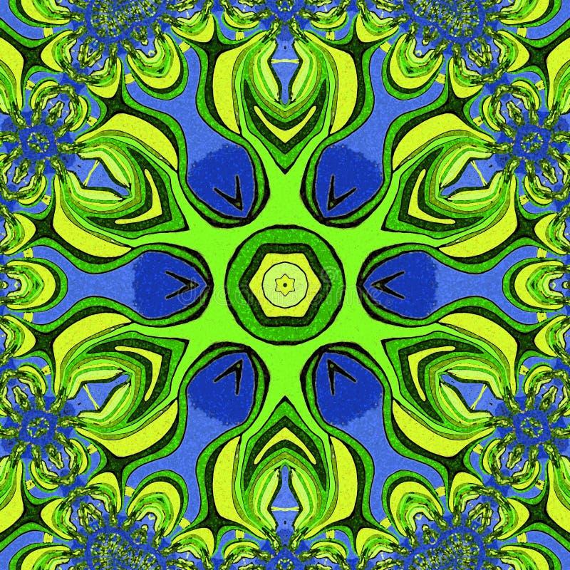 Fondo abstracto colorido La flor verde libre illustration