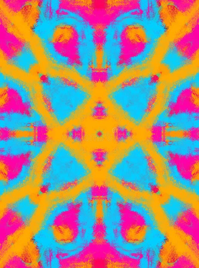 Fondo abstracto colorido Manchas de pinturas multicoloras stock de ilustración