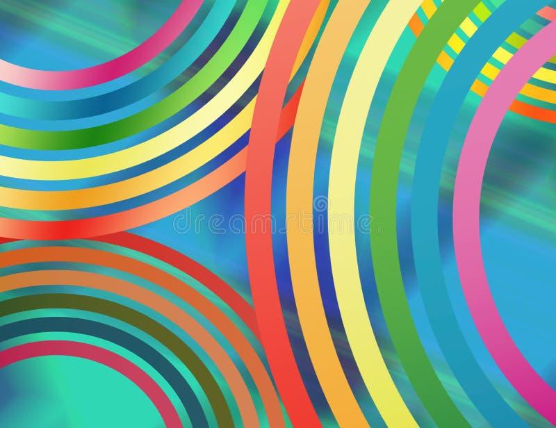 Fondo abstracto compuesto de líneas circulares ilustración del vector
