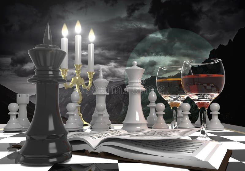 Fondo abstracto con ajedrez stock de ilustración