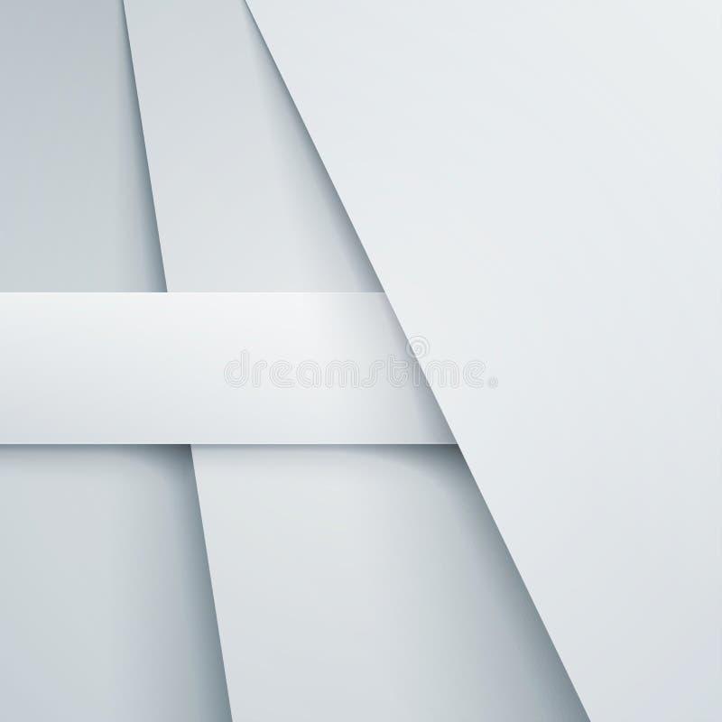 Fondo abstracto con capas del Libro Blanco stock de ilustración
