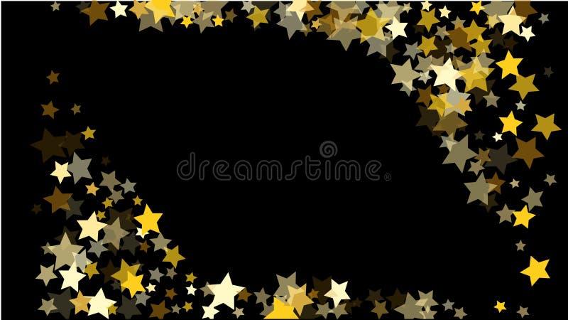 Fondo abstracto con confeti de oro al azar de muchas estrellas que cae libre illustration