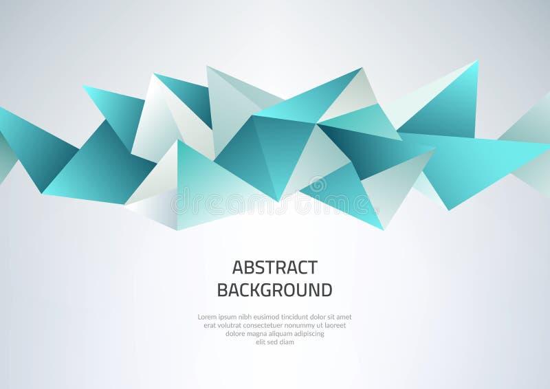 Fondo abstracto con dimensiones de una variable geométricas Plantilla en el tema del negocio y de la tecnología moderna ilustración del vector