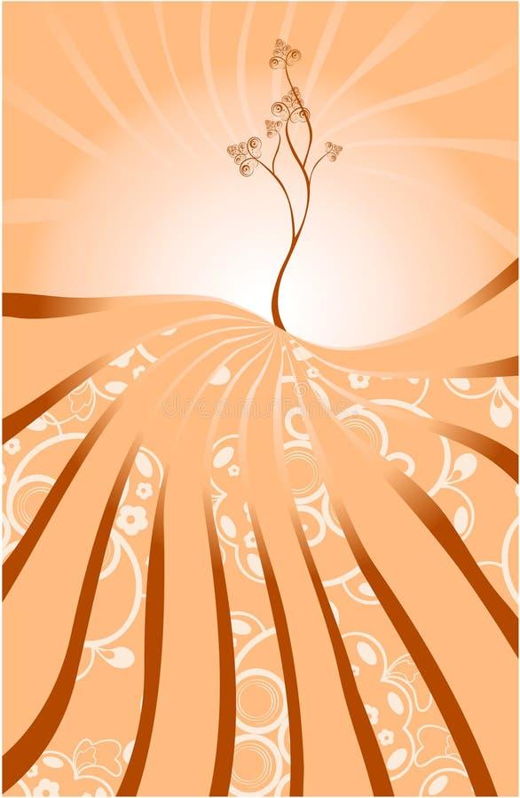 Fondo abstracto con el árbol libre illustration