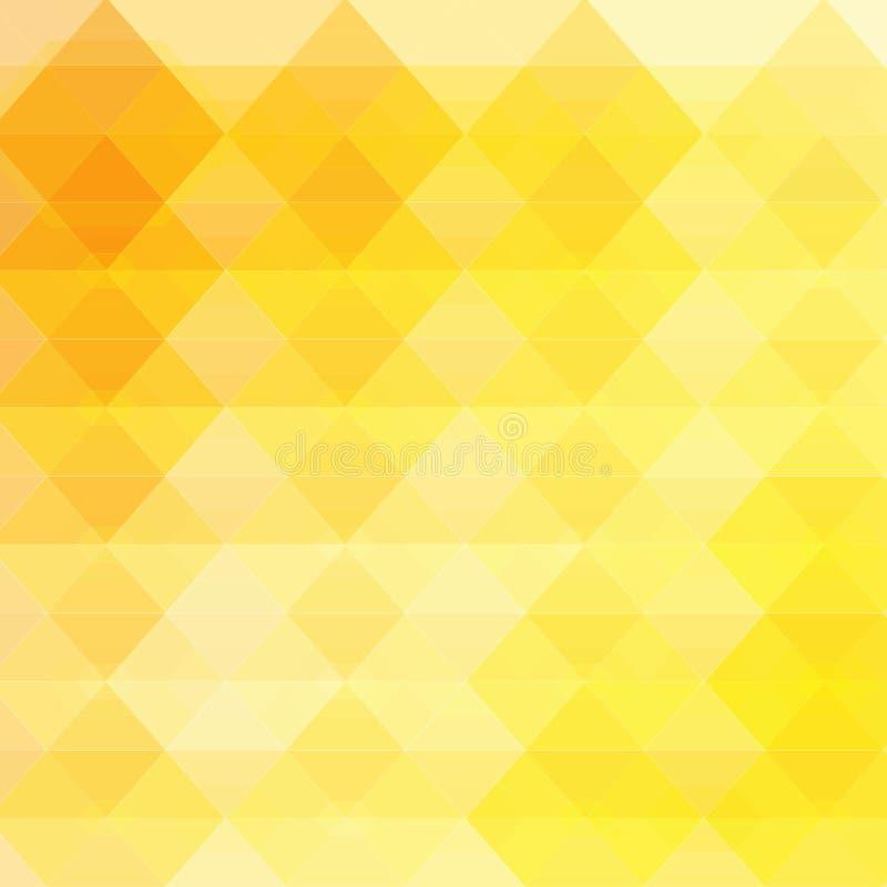Fondo abstracto con el bokeh del resplandor del oro amarillo - las partículas que brillan intensamente en los bordes se ocultan b stock de ilustración