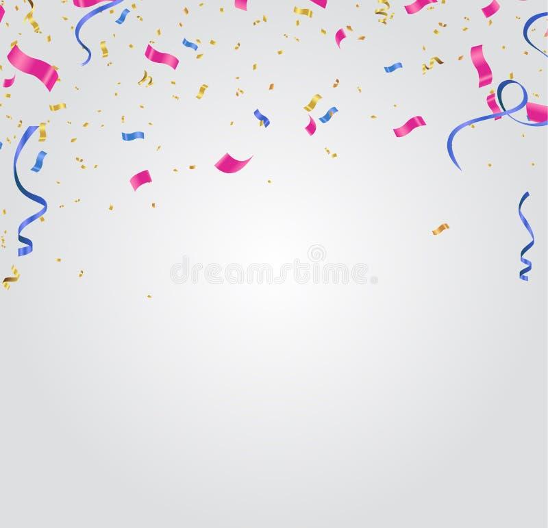 Fondo abstracto con el brillo de los globos coloridos Cumpleaños, partido, presentación, venta, aniversario y diseño del club ilustración del vector