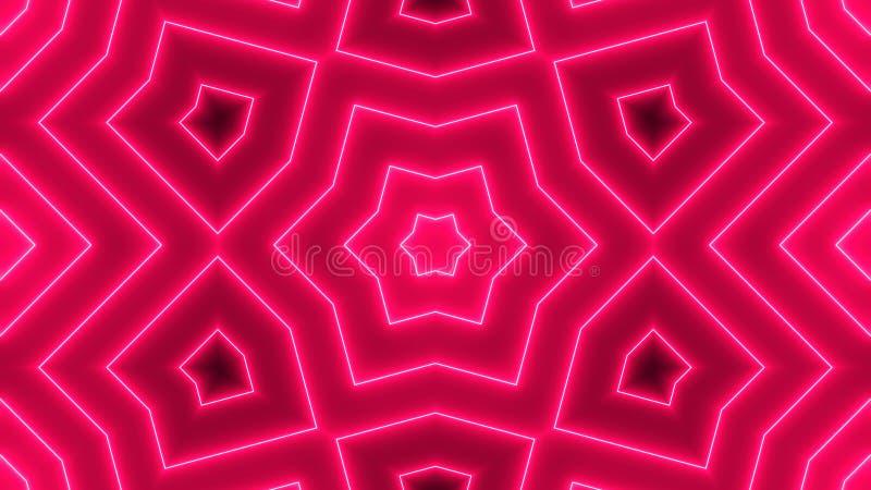 Fondo abstracto con el caleidoscopio de neón libre illustration