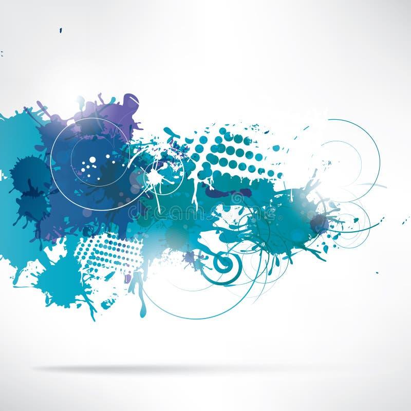 Fondo abstracto con el chapoteo ilustración del vector