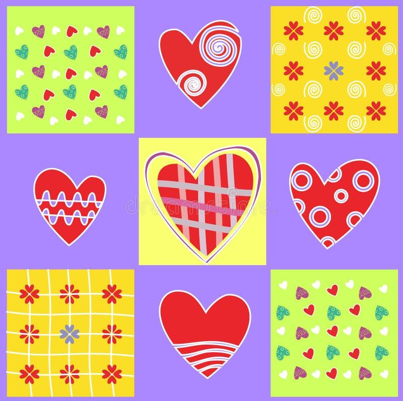 Fondo abstracto con el corazón y el amor ilustración del vector