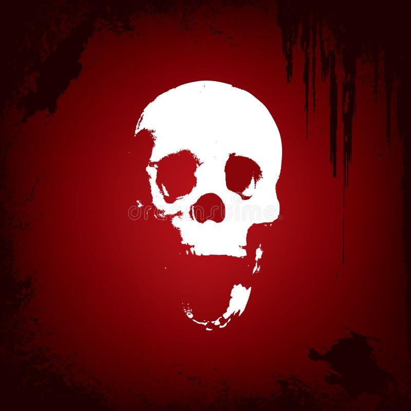 Download Fondo Abstracto Con El Cráneo Ilustración del Vector - Ilustración de pintada, esqueleto: 7277765