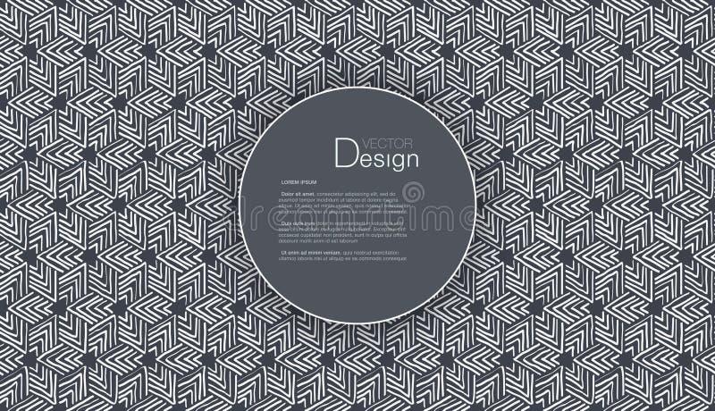 Fondo abstracto con el cuadro de texto o el modelo individual ilustración del vector