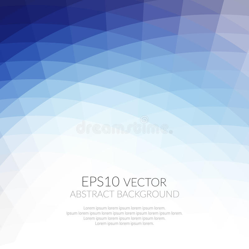 Fondo abstracto con el modelo geométrico de triángulos Sombras del azul La textura de la superficie y de los bordes ilustración del vector