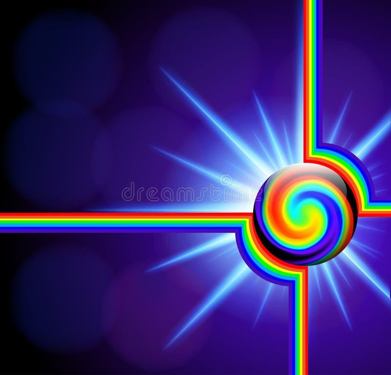 Fondo abstracto con espiral del espectro de la bola de cristal libre illustration