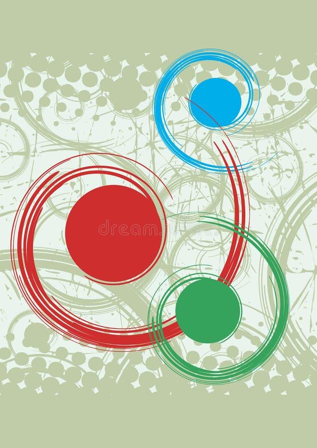 Fondo abstracto con espirales azules y verdes rojos libre illustration