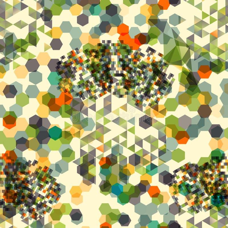 Fondo abstracto con formas sucias del polígono stock de ilustración