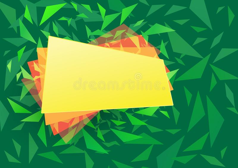 Fondo abstracto con formas y la bandera del triángulo stock de ilustración