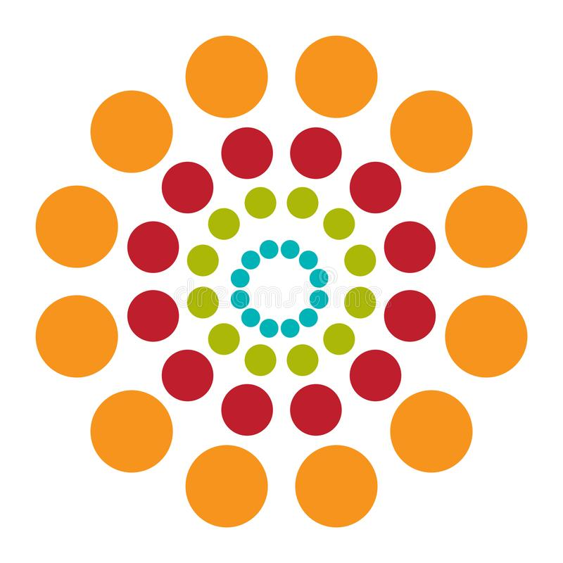 Fondo abstracto con hipnosis colorida de los círculos Vector fotografía de archivo