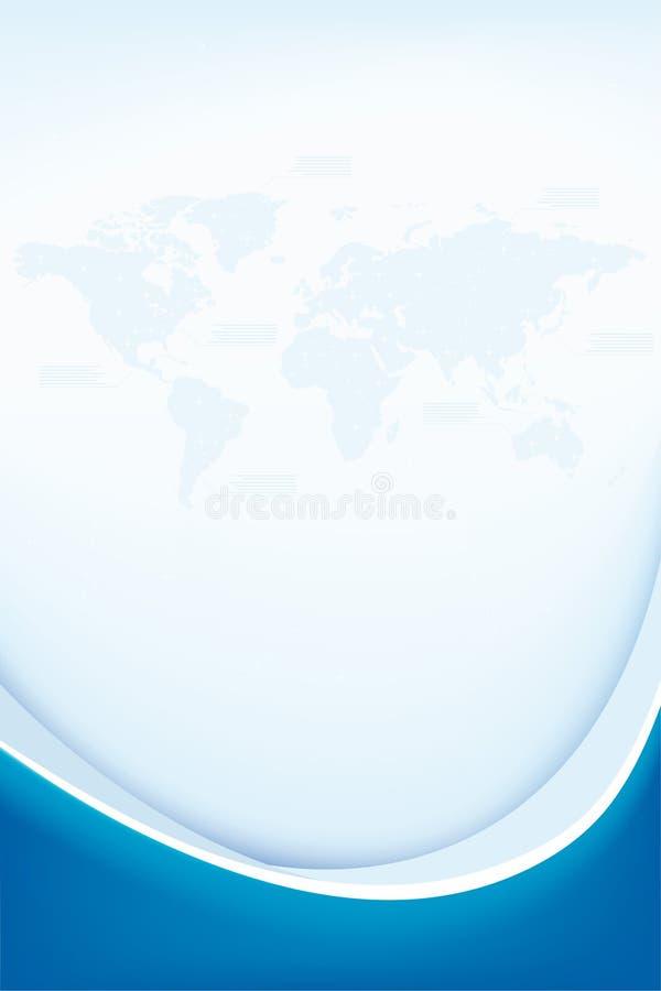 Fondo abstracto con la correspondencia de mundo stock de ilustración