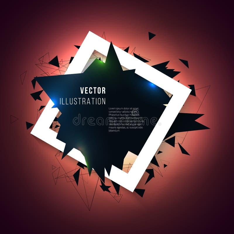 Fondo abstracto con la explosión de los triángulos Capítulo con el efecto 3d libre illustration