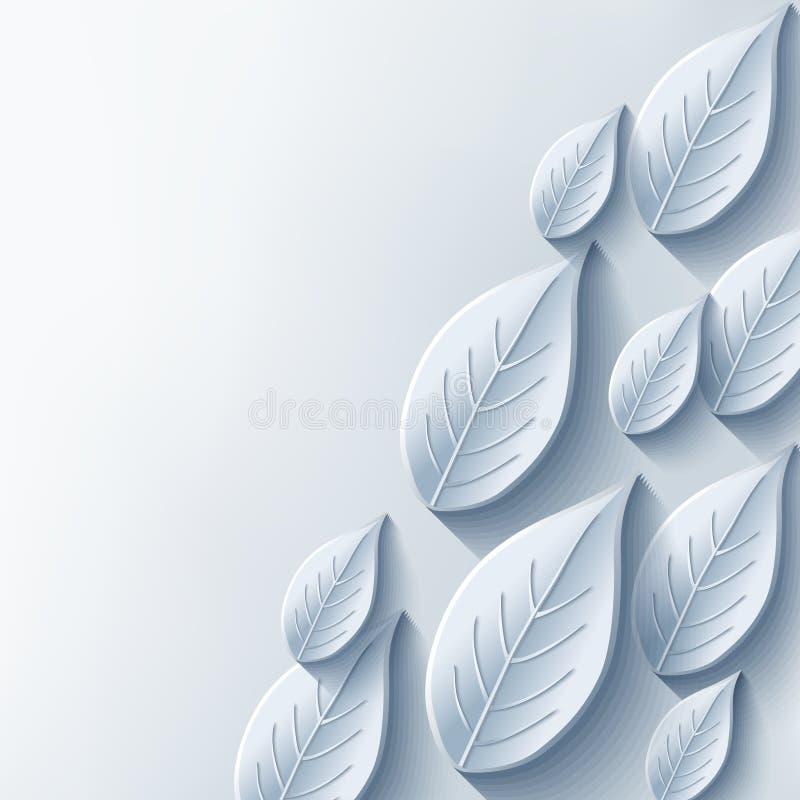 Fondo abstracto con la hoja elegante del gris 3d ilustración del vector