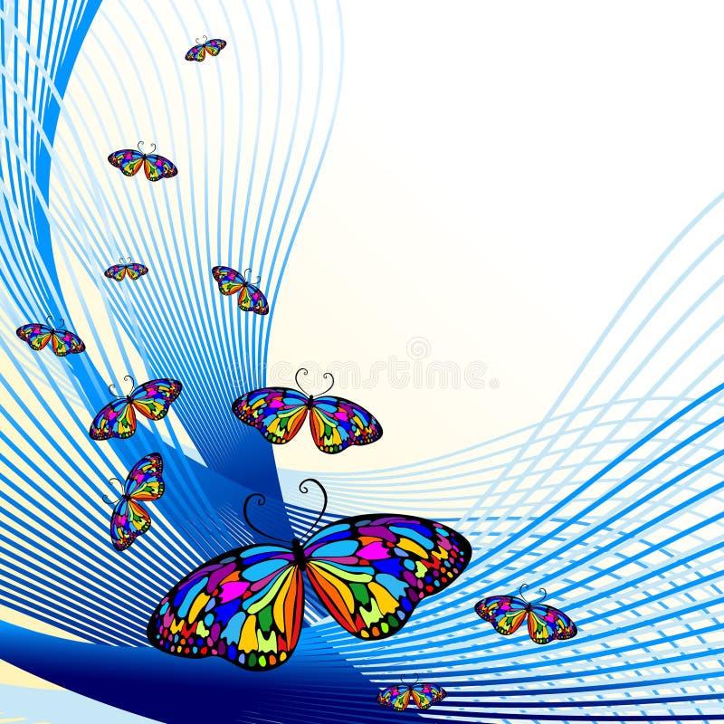 Fondo abstracto con la mariposa libre illustration