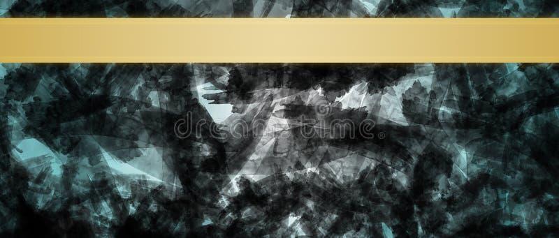 Fondo abstracto con la plantilla del diseño del título de las rayas de la cinta del oro fotografía de archivo