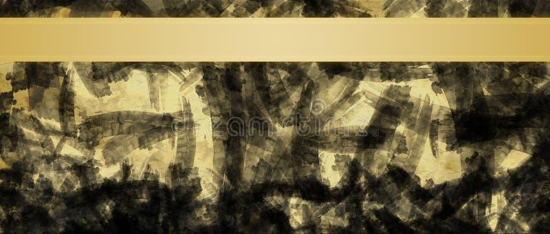 Fondo abstracto con la plantilla del diseño del título de las rayas de la cinta del oro fotos de archivo libres de regalías