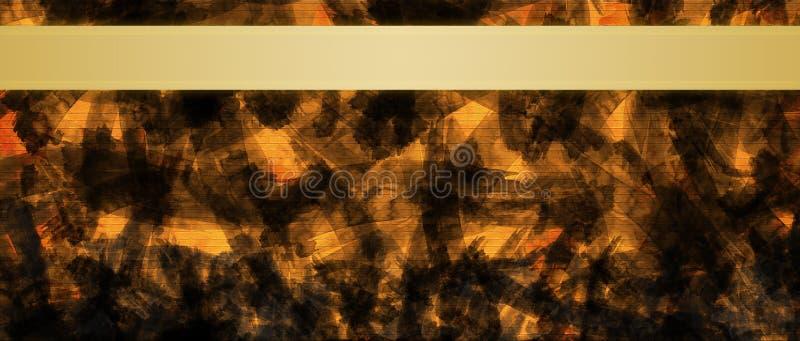 Fondo abstracto con la plantilla del diseño del título de las rayas de la cinta del oro imagen de archivo libre de regalías