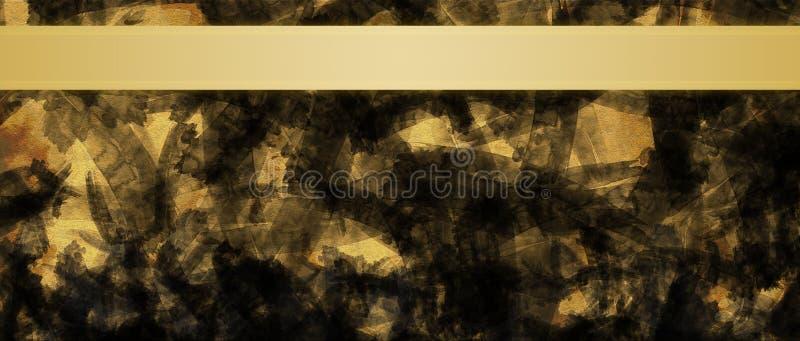 Fondo abstracto con la plantilla del diseño del título de las rayas de la cinta del oro imagenes de archivo