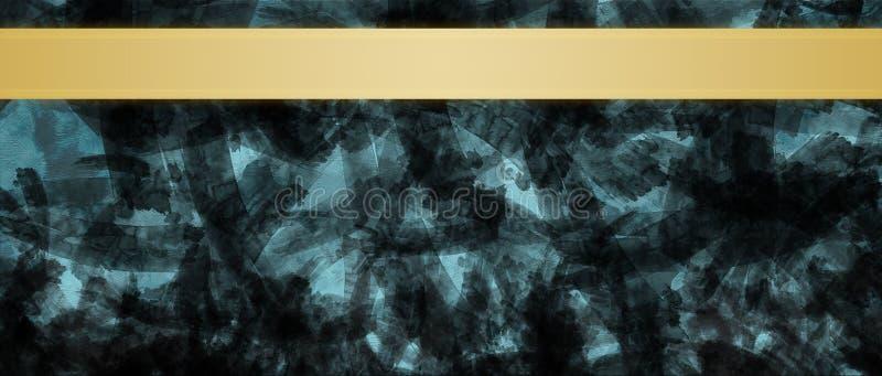 Fondo abstracto con la plantilla del diseño del título de las rayas de la cinta del oro fotografía de archivo libre de regalías