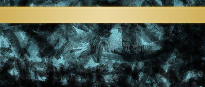 Fondo abstracto con la plantilla del diseño del título de las rayas de la cinta del oro fotos de archivo