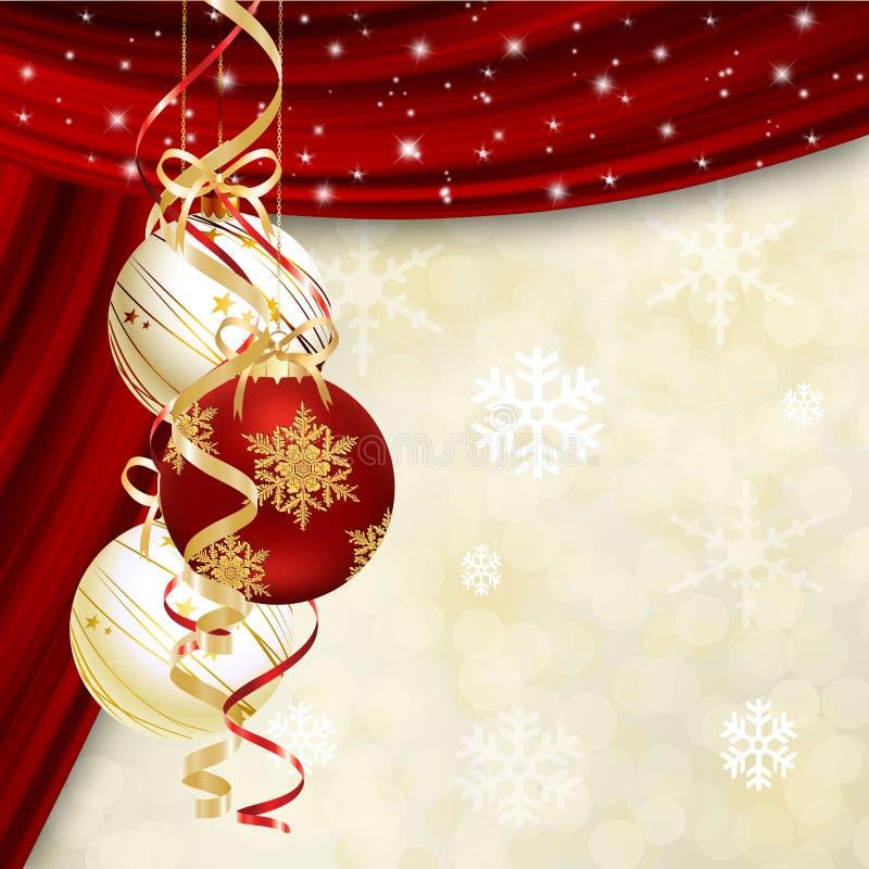 Fondo abstracto con las bolas de la Navidad libre illustration