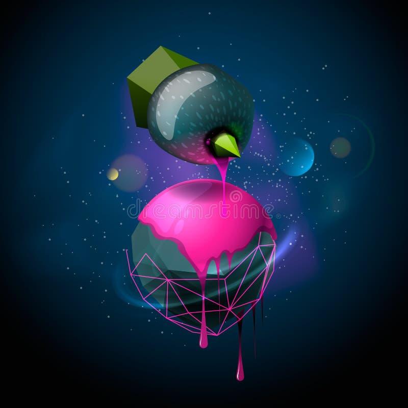 Fondo abstracto con las esferas libre illustration