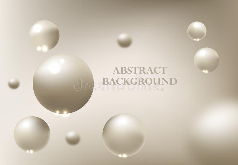 Fondo abstracto con las esferas 3d ilustración del vector