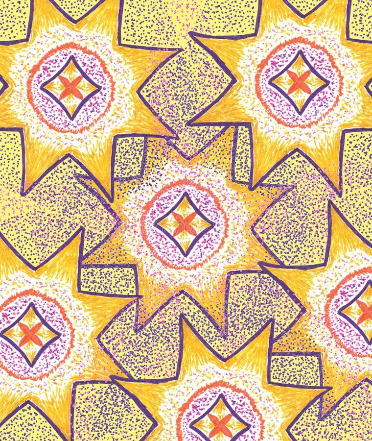 Fondo abstracto con las estrellas Ejemplo amarillo Modelo de lujo del diseño del oro Contexto festivo La Navidad y Año Nuevo libre illustration